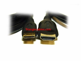 3 Foot HDMI A to Mini C High Speed with Ethernet Cable 1 Meter 1080P