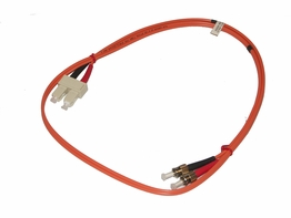 3 Meter ST - SC Multimode 62.5/125 Duplex Fiber Optic Jumper Cable