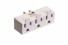 3 Outlet Wall Grounded Tap 120V AC Power