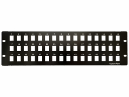 48 Port 3 Row Snap-In Patch Panel for Keystone Inserts 19 Inch 3U
