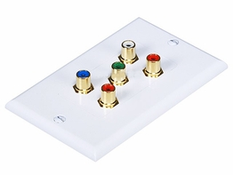5 RCA Component Video RGB and RCA Stereo Audio Right Left wall plate