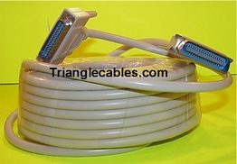 50 Foot IEEE 1284 Bi-directional Printer Cable DB25 Male Centronics 36