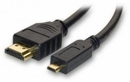 6 Foot HDMI with Ethernet Type A to HDMI Micro D Premium Cable 1080P