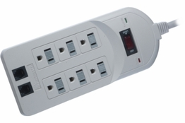 6 Outlet Surge Protector - 6ft Cord - 210 Joules