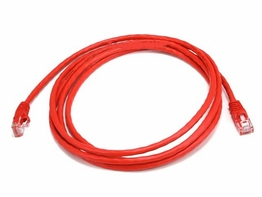 7 Foot Red Cat6 Crossover Ethernet Patch Cable