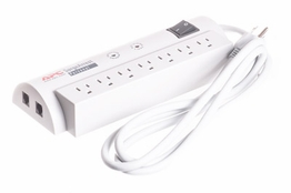 7 Outlet Surge Protector with Phone Protection - 6ft Cord - 1,060 Joules