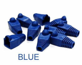 Blue Snagless strain relief Boots for RJ-45 Networking Ethernet plugs