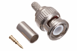 BNC Crimp Connector -Male - RG58 PVC