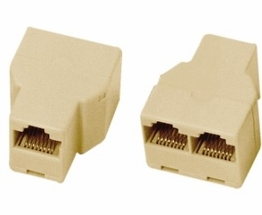 CAT 5 RJ45 Female to RJ45 Female RJ45 Female 8P8C Duplex T Adapter