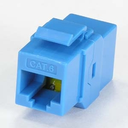 Cat 6 Inline Coupler Keystone Type with Latch 8P8C UTP Color Blue