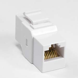 Cat 6 Inline Coupler Keystone Type with Latch 8P8C UTP Color White