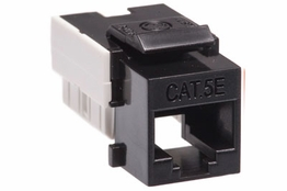 Cat5e - Dual Row Keystone Jack - Black