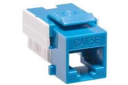 Cat5e - Dual Row Keystone Jack - Blue