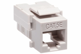 Cat5e - Dual Row Keystone Jack - Gray