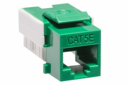 Cat5e - Dual Row Keystone Jack - Green