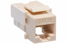 Cat5e - Dual Row Keystone Jack - Ivory