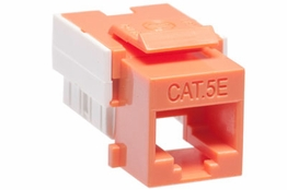 Cat5e - Dual Row Keystone Jack - Orange