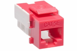 Cat5e - Dual Row Keystone Jack - Red