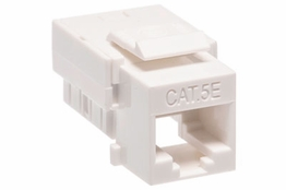 Cat5e - Dual Row Keystone Jack - White
