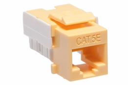 Cat5e - Dual Row Keystone Jack - Yellow