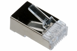 Cat5e Rated - RJ45 Shielded Connector - Solid Cable