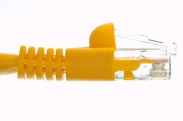 Cat6 Crossover Patch Cable - Yellow - 25 FT