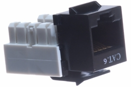 Cat6 - Dual Row Keystone Jack - Black