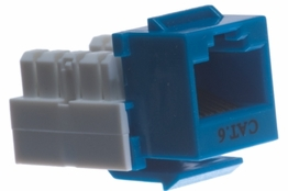 Cat6 - Dual Row Keystone Jack - Blue