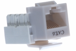 Cat6 - Dual Row Keystone Jack - Gray