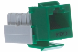 Cat6 - Dual Row Keystone Jack - Green