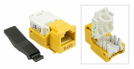 Cat6 Gigabit Toolfree Keystone Jack Modular Network RJ-45 Yellow