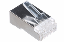 Cat6 Rated - RJ45 Shielded Connector -  Solid Cable