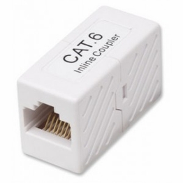 Cat6 RJ45 Female to RJ45 Female Straight Inline Network Coupler Gigabit
