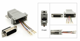 DB15 Male to RJ45 Female RS232 Serial Terminal Modular Adapter