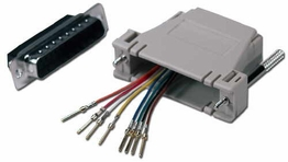 DB25 Male to RJ45 Female RS232 Serial Terminal Modular Adapter