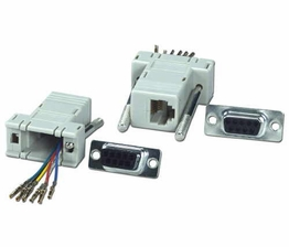 DB9 Male to RJ12 Female RS232 Serial Terminal Modular Adapter