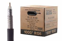 ECore Cables Dual Shield RG6 Coax cable - 1000FT