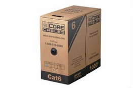 ECore Cables Cat6 UTP Solid PVC Cable - Per FT