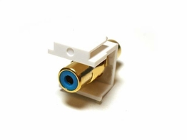 Keystone Modular Insert RCA Type Connector Female to Female Color Blue