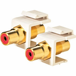 Keystone Modular Insert RCA Type Connector Female to Female Color Red