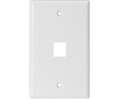 One outlet Single hole Keystone Wall Plate audio video smooth finish