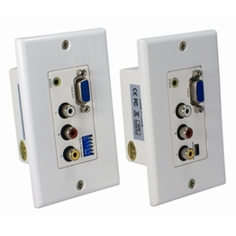 RCA & S Video Component Composite Wall Extenders