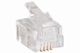 RJ11 Modular Plug for Round Cable - 6P4C