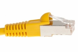 Shielded Cat5e Patch Cable - Yellow � 14 FT