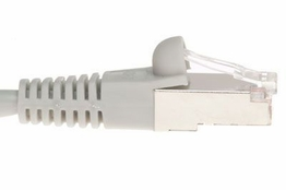 Shielded Cat6 Patch Cable - Gray - 3 FT