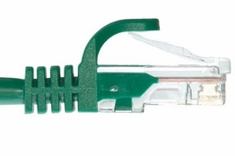 Slim Boot Cat5e Ethernet Patch Cable - Green � 7 FT