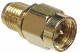 SMA Adapter - Male/Female - Gold