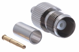 TNC Crimp Connector - Female - RG58 & LMR-195
