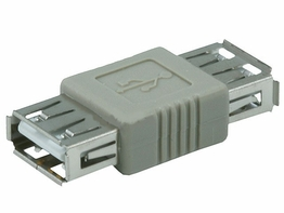 USB 2.0 Type A Female to USB Type A Female Coupler Gender Changer