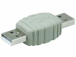 USB 2.0 Type A Male to USB Type A Male Coupler Gender Changer Adapter